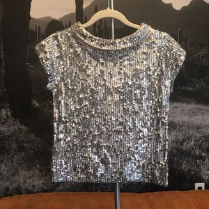 Disco Ball silver sequin Marc Jacobs sweater Small